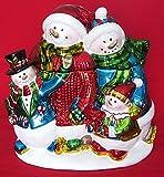Davids Cookie Jars Best Deals - Vintage Snowman's Family Shinny Metallic Finish Cookie Jar 10