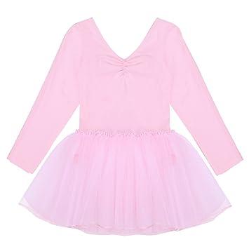 47beb4165 TiaoBug Kids Girls Long Sleeve Tulle Tutu Skirt Ballet Dance ...
