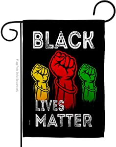 Black Lives Matter Justice for BLM Garden Flag Support Cause Anti Racism Revolution Movement Equality Social House Decoration Banner Small Yard Gift Double-Sided, 13