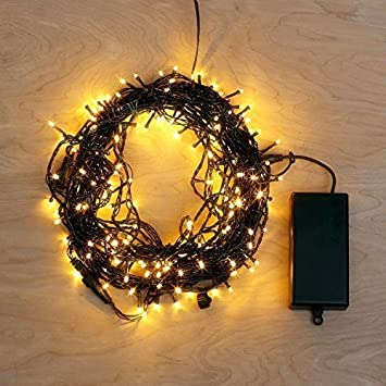 christmas light automatic timer 8 modes led string lights with 6 hours 3 aa battery