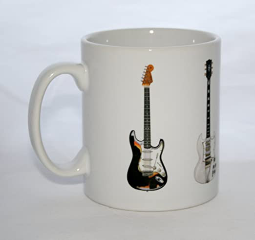 George Morgan Illustration Jimi Hendrix Guitar Mug. 5 Famosas ...