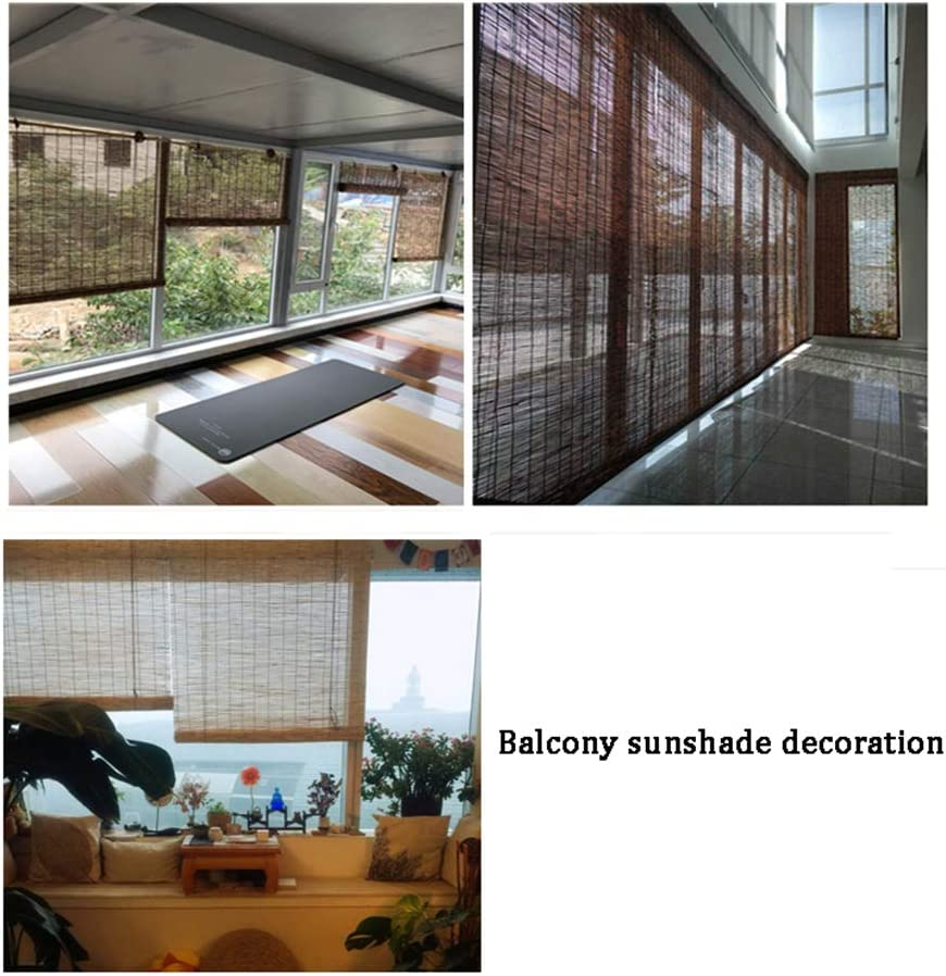 All mounting Parts Bamboo Curtain Rolling shutters with Solid Material Shade Waterproof and Moisture Proof Pastoral Style