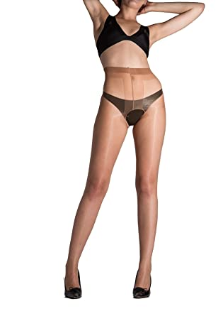 5fd7e05a77d Amazon.com  Cecilia de Rafael Vidrio Crotchless Tights  Clothing