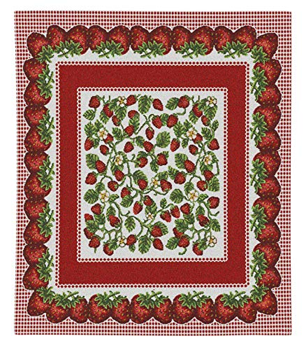 - Pure Country Weavers | Strawberry Festival Hand Finished European Style Jacquard Woven Wall Tapestry. USA 34X26