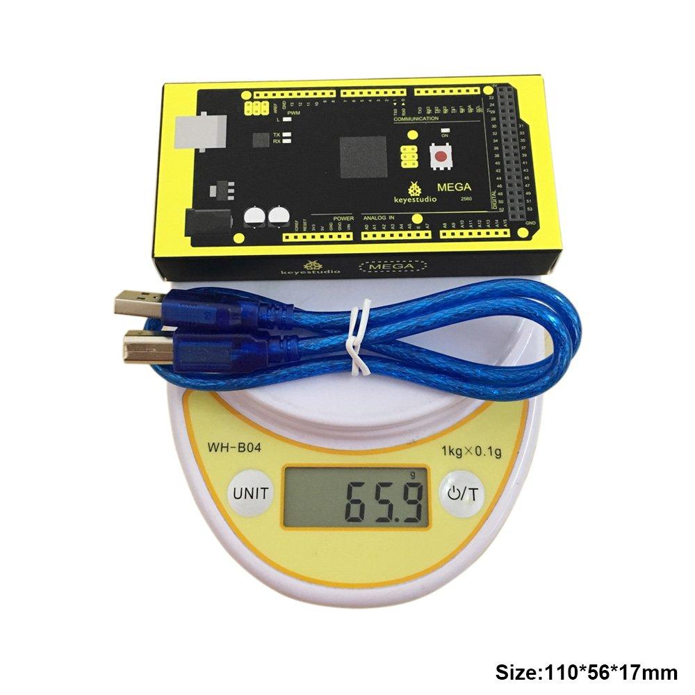 KEYESTUDIO Mega 2560 Board for Arduino Mega 2560 R3 Arduino IDE+USB Cable