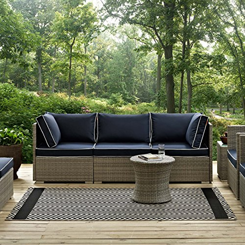 Black Beige Rug - Modway Optica Chevron With End Borders 5x8 Indoor and Outdoor In Black and Beige