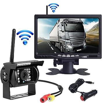 """OBEST Kit de cámara de seguridad 7"""" TFTLCD Monitor & ~ inalámbrico infrarrojos visión nocturna"""