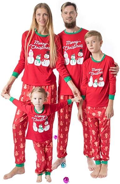 TENDYCOCO Conjunto de Pijamas navideños Familiares a Juego ...