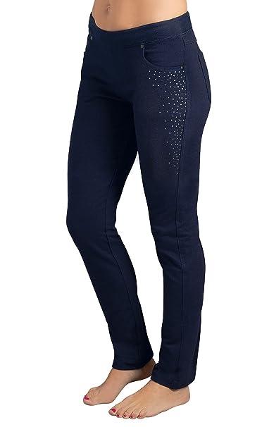 a390504a4 Amazon.com: PajamaJeans Women's Skinny Sparkle Stretch Denim Jeans,  Midnight, X-Small / 0-2: Clothing