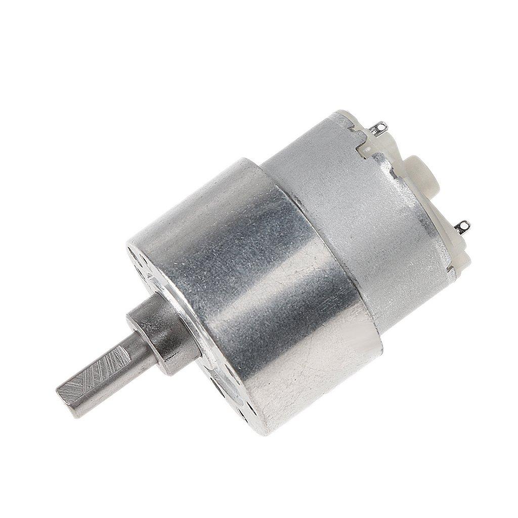 Homyl Getriebemotor Motor Metall Geschwindigkeitsreduzierung Getriebe - 12V