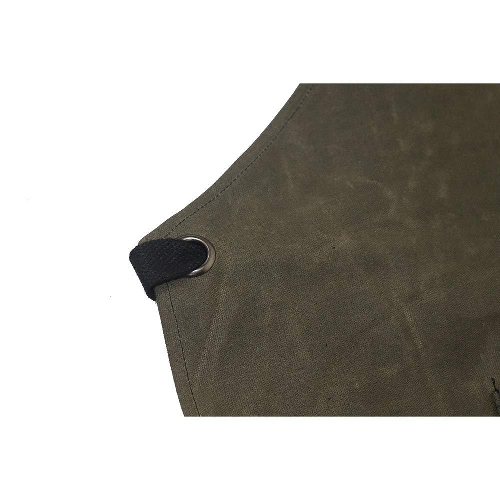 Delantal de piel para soldar delantal de carpintero taller de manualidades TUYU garaje TYDWQ102 jard/ín cer/ámica delantal de trabajo para cocina lona encerada de 16 onzas