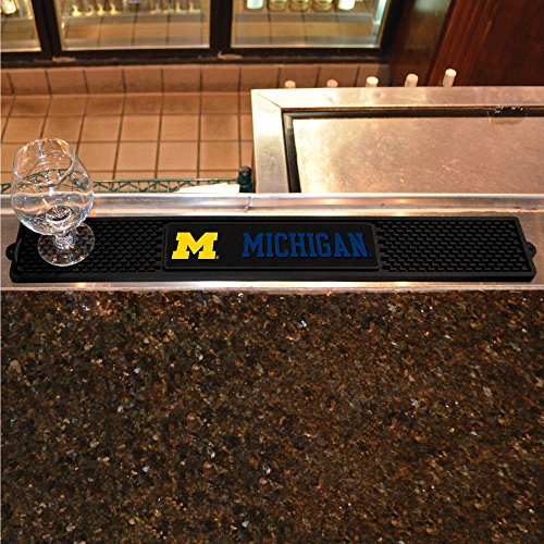 Fanmats Home Indoor Sports Team Logo University of Michigan Drink Mat 3.25x24 ()