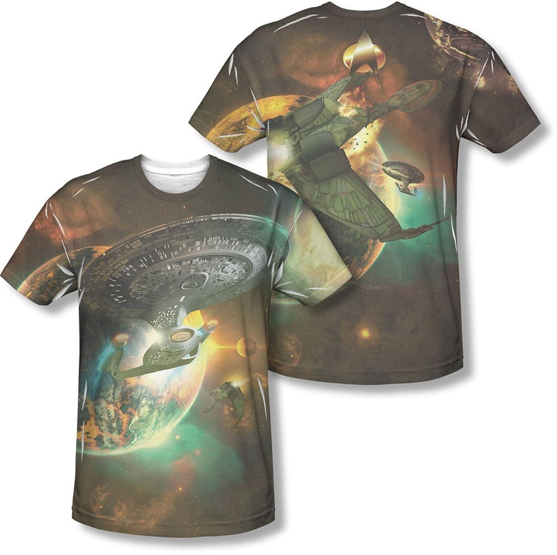 Star Trek - Mens Battle Ships (Front/Back Print) T-Shirt