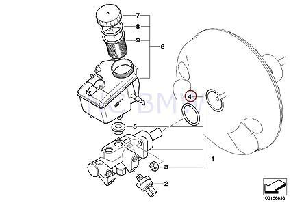 Amazon Com Bmw Genuine Brake Master Cylinder O Ring Automotive
