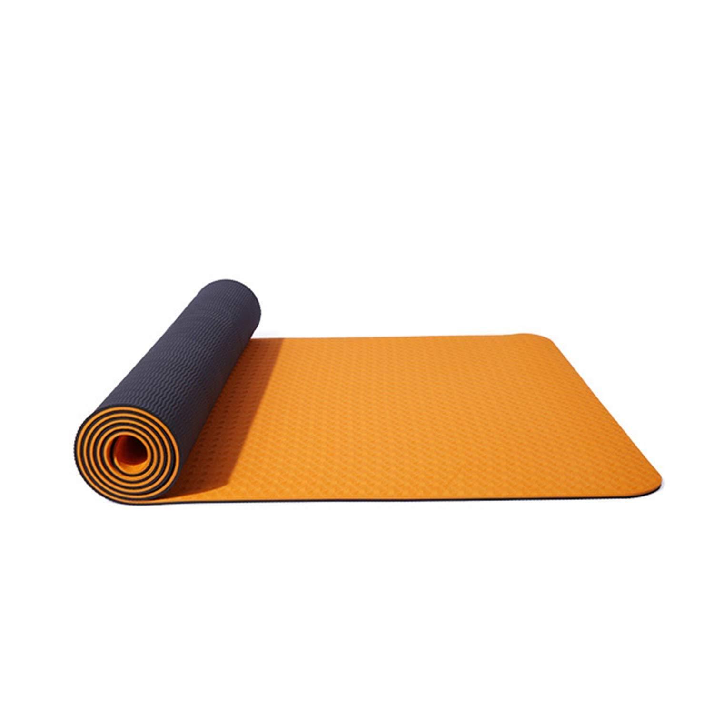 Amazon.com: Yoga Mat Non Slip TPE Fitness Mat Wide Pad Thick ...