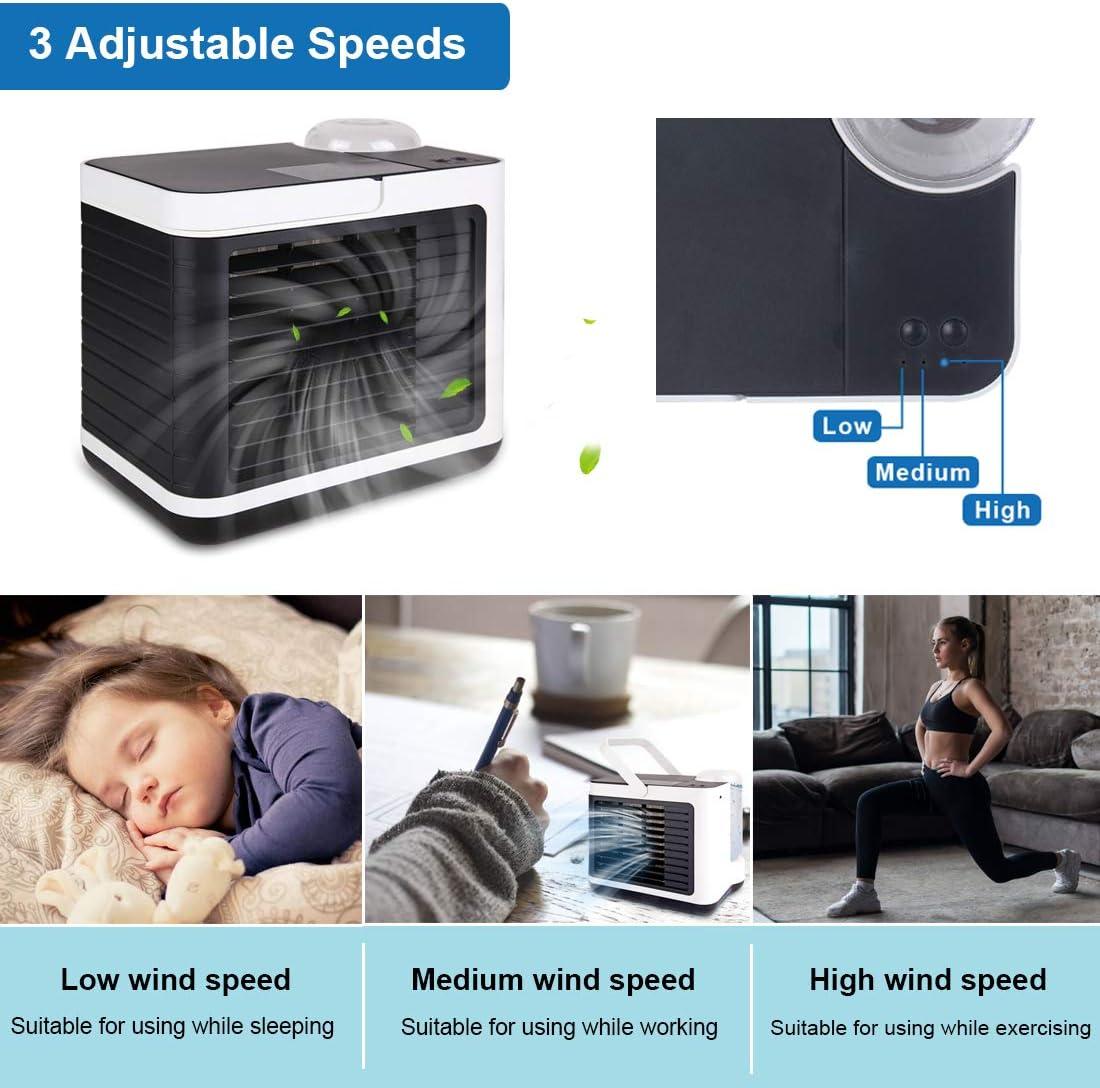 5 en 1 Climatizadores Evaporativos con Funci/ón de Humidificaci/ón Mini Acondicionador de Aire M/óvil Genround Mini Enfriador de Aire