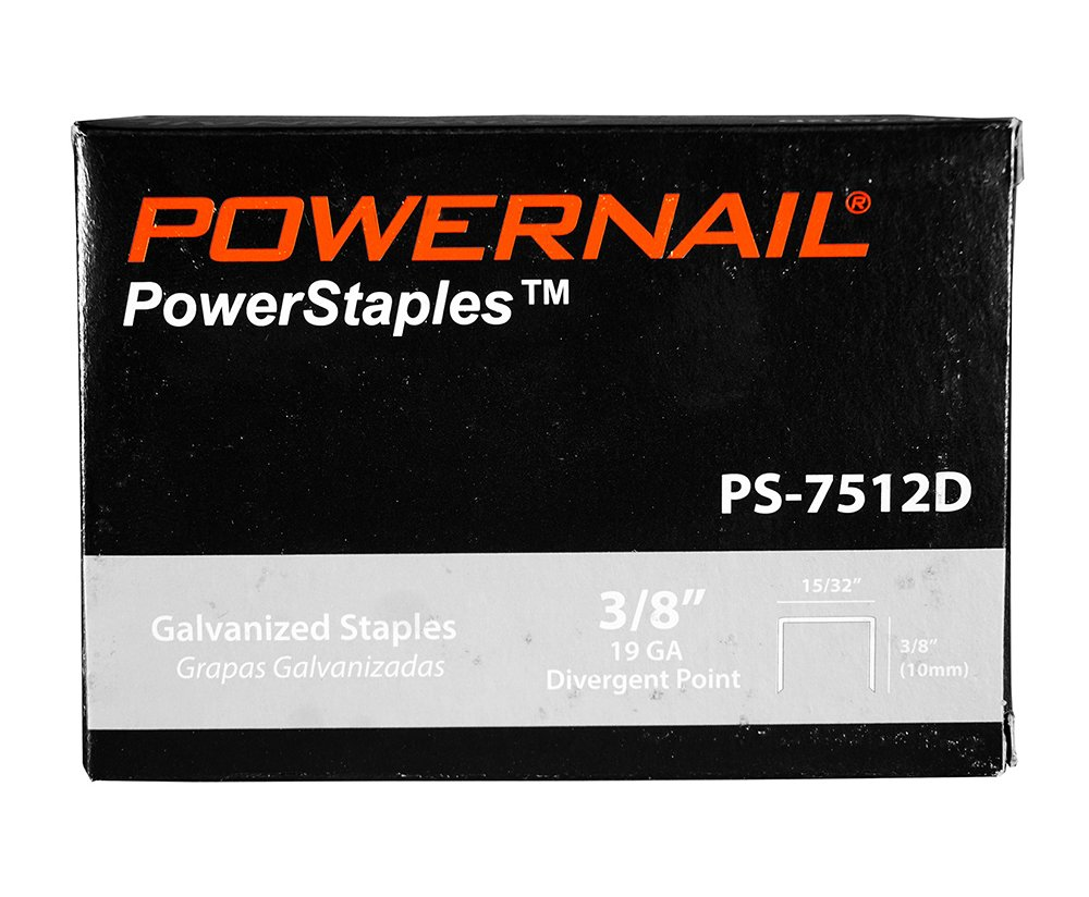Powernail 19 Ga. Divergent Point Staples, 15/32'' Crown, 3/8''leg (1 Case of 20-5,000 boxes) by Powernail (Image #1)
