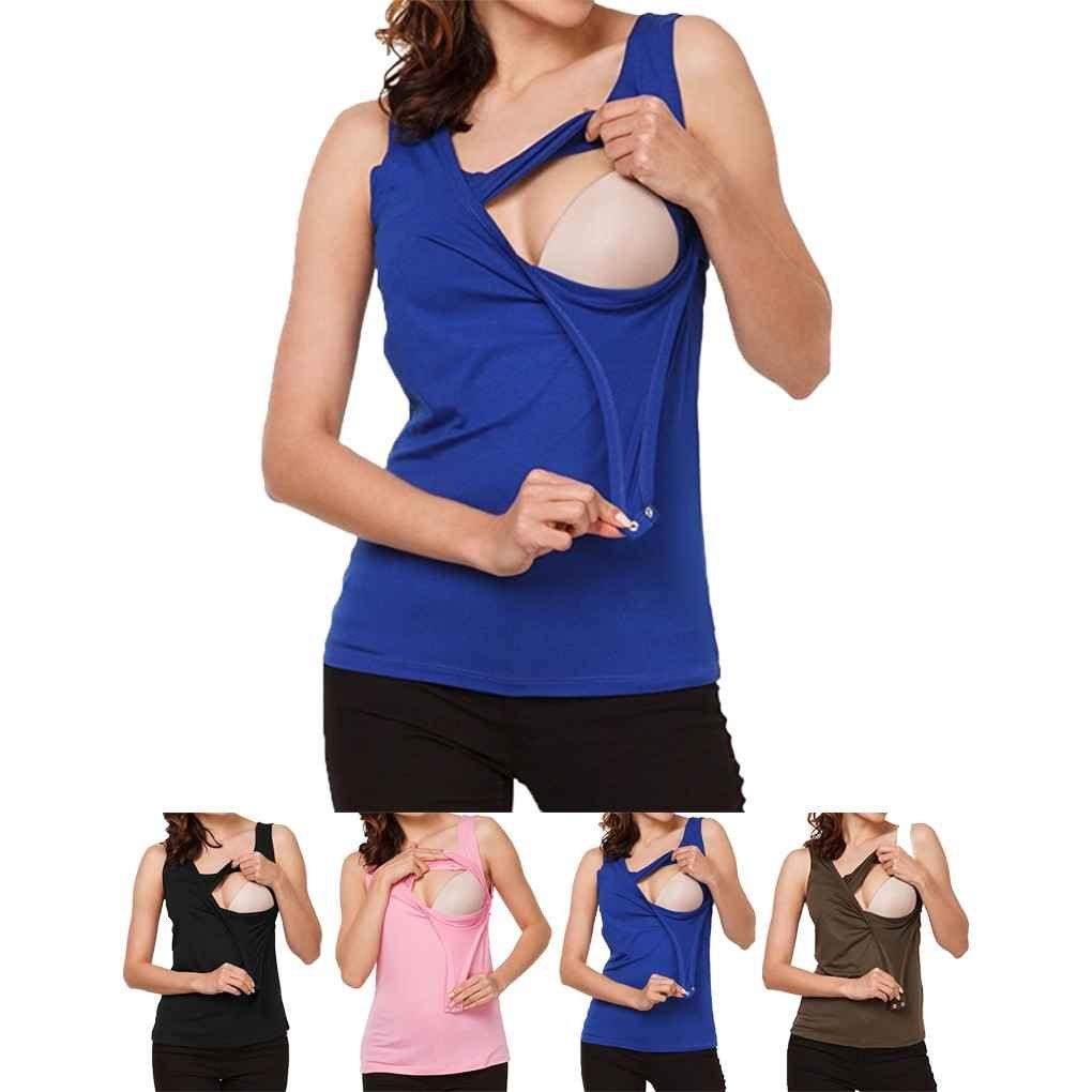 Arichtop Femmes Tops sans Manches Casual T-Shirt Maternit/é Allaitement Allaitement V/êtements Nourrir L/ét/é Les Femmes Enceintes Porter