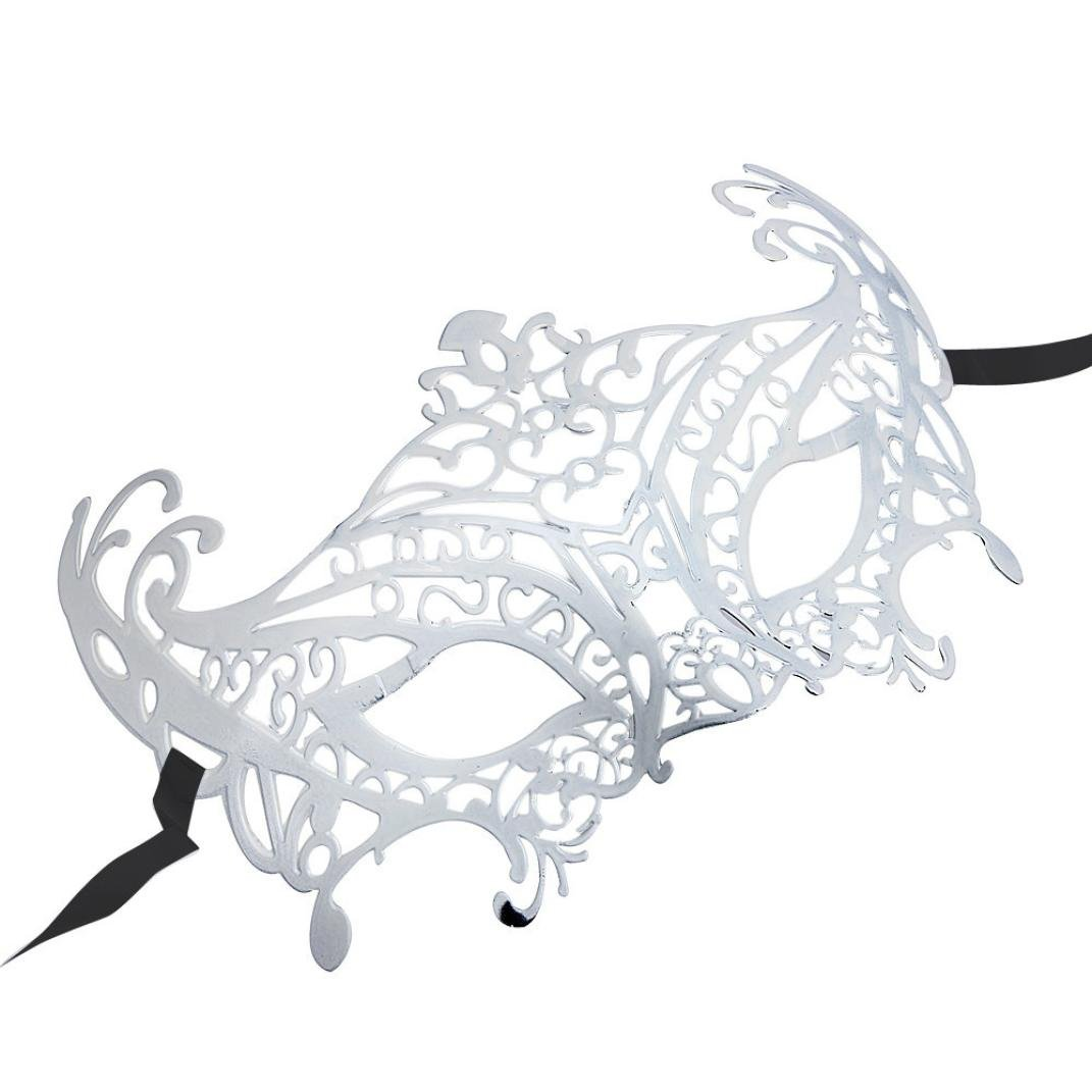 Boomboom Venetian Hollow Masquerade Halloween Mask (White) by Boomboom (Image #2)