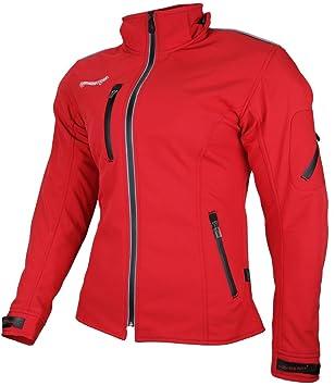 HEYBERRY Damen Soft Shell Jacke Motorradjacke Textil Pink Gr S