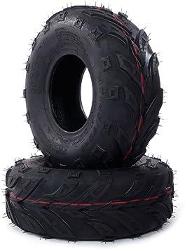 Amazon Com Mini Bike Tires Go Kart Atv Lawn Tubeless Tire Assembly 145 70 6 145x70 6 Pack Of 2 Automotive