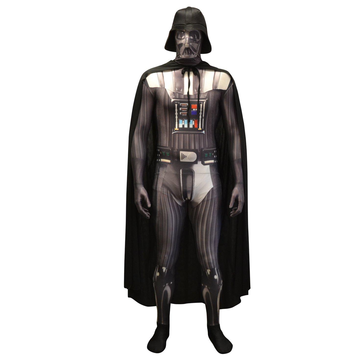 Morphsuits Disfraz de Guerra de Las Galaxias Darth Vader Digital - Tamaño Grande 55