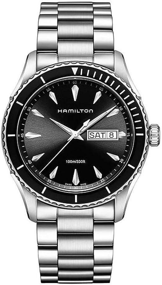 Hamilton orologio analogico quarzo uomo con cinturino in acciaio inox h37511131