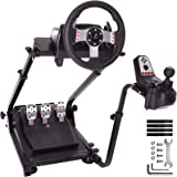 Minneer Wheel Stand,G920 Racing Wheel Stand Pro for Logitech G25 G27 G29 G920 Racing Wheel Shifter and Pedals NOT Included (B