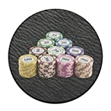 Circle Bathroom Rug Mat Flannel Extra Soft Shower Bath Rugs Shower Carpet Round Bath Mat Poker Chips