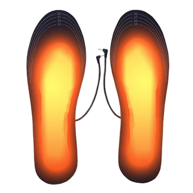 Noir de p/êche Lavable Chauffe Pied pour dhiver Semelle Thermique Semelles chauffantes USB de randonn/ée Winthai Semelle Chauffante de Camping