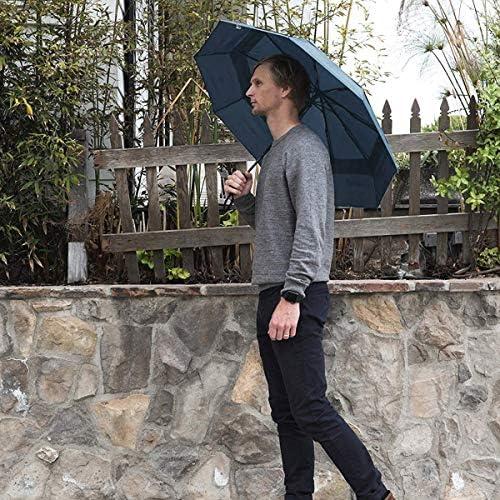 DORRISO Autom/ático Abrir//Cerrar Paraguas Plegable Viajar Dosel Doble Construcci/ón y Resistente al Viento Impermeable 8 Varillas Reforzadas Mujer Hombre Compacto Viajar Paraguas