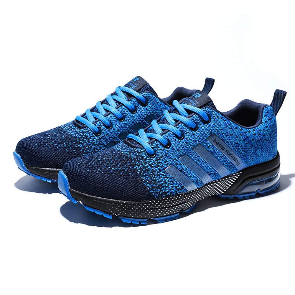 Fexkean Unisex Sportschuhe Laufschuhe Turnschuhe Atmungsaktiv Sneakers Air Sport Casual Shoes Herren Damen (8877Blue40)