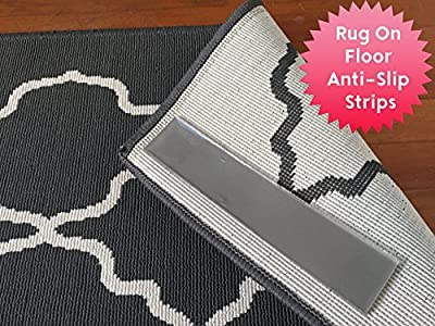 Sticky Strips Non-Slip Rug Pads For RUG-ON-FLOOR Anti-Slip. 4 Pack Intended To Limit A Small Rug From Moving On FLOORS. BRAND NEW!