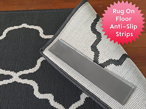 Anti-Slip Area Rug Pads. Anchor Area Rugs To The Floor. Sticky Strips Non-Slip Rug Pads For RUG-ON-FLOOR Anti-Slip. 8 Pack Intended To Anchor a Medium/Large Rug From Moving On FLOORS. BRAND (Rug Strip)