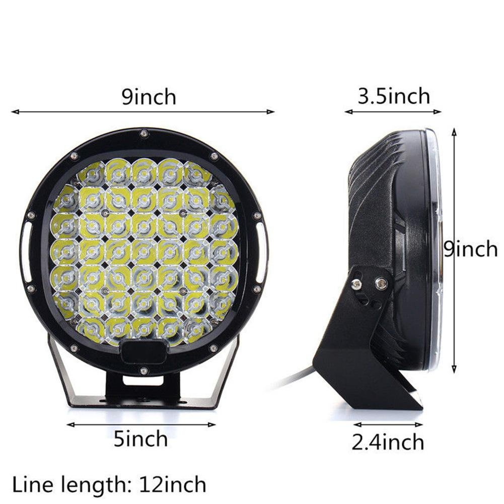 ZHUOTOP 9Inch 690000LM SUV Car LED Work Light Spot Flood Driving Lamp Offroad Truck 7650W 45LED by ZHUOTOP (Image #9)