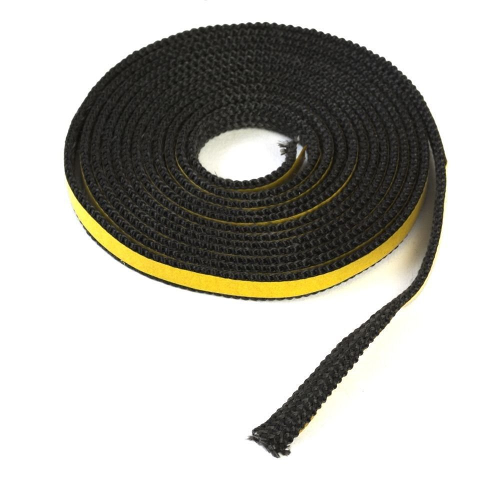 Seal Heat Resistant Fiber to 550//°C Length 4/Metre Width 10x2/mm Glass Fireplace Chimney Stove Rope Self-Adhesive Sealing Tape Glass Door