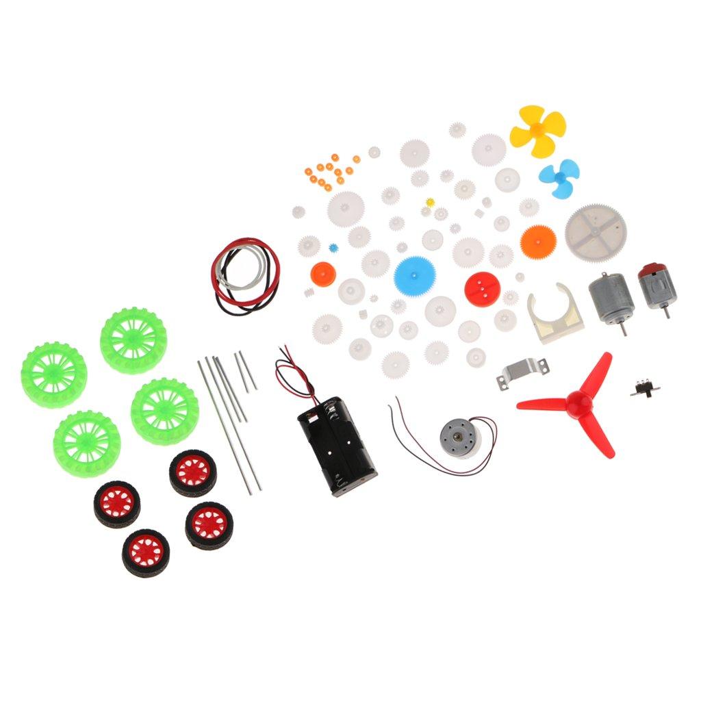FLAMEER 69 Tipos De Paquete De Engranajes Motor 2mm Agujero Juguete del Chasis del Coche DIY Gear Gear Kit