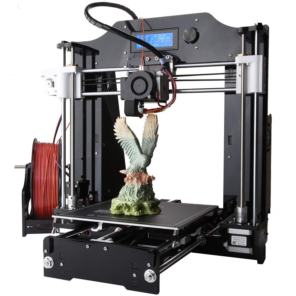 ZMM 3D Kits d'impression, l'auto-Assemblage Haute précision, DIY Personal portabilité 3D-imprimantes, Taille d'impression 200 * 200 * 180mm PLA/ABS/Hips/Bois