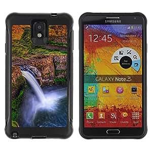 Suave TPU GEL Carcasa Funda Silicona Blando Estuche Caso de protección (para) Samsung Note 3 / CECELL Phone case / / Waterfall Africa Sunset /