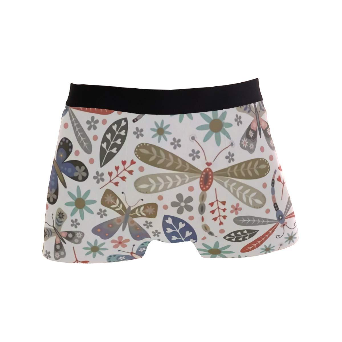 CATSDER Dragonflies Boxer Briefs Mens Underwear Pack Seamless Comfort Soft