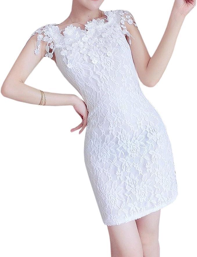 YueLian Mujer de Falda Una Falda Ajustada de Encaje Vestido para ...