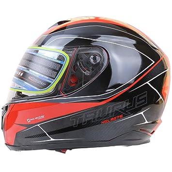 El Casco De La Motocicleta Que Compite con El Casco Lleno De La Cara Cubre Completamente