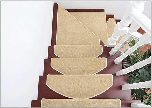 Sxrkrcyy Alfombra De Escalera,Alfombras para Escalera, Autoadhesivas Sin Adhesivo Pegatinas Antideslizantes De Escalera De Piso Alfombras Tapetes Protectores,24 * 65 * 3CM: Amazon.es: Hogar