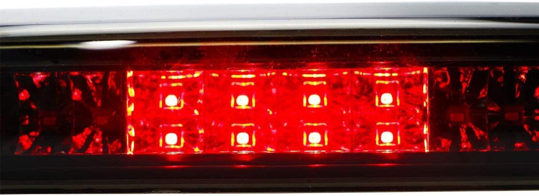 Smoke Lens High Mount Waterproof Dual Row LED Third Light Brake Light for 1999-2006 Chevrolet Silverado//GMC Sierra GMT800