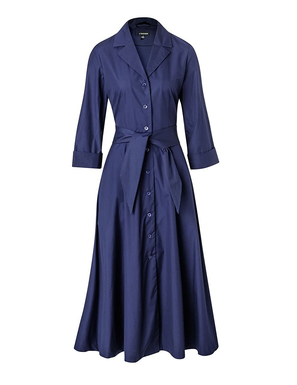 1940s Shirtwaist Dress History Long-Sleeve 1947 Dress $204.70 AT vintagedancer.com