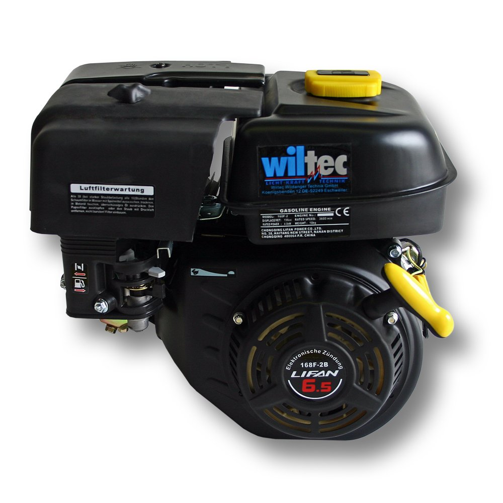 Wiltec LIFAN 168 Petrol Gasoline Engine 4.8kW (6.5Hp) 0.75 inch with Recoil starter 92407
