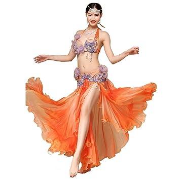 f00c5ae35 Wgwioo Dance costumes Vientre Baile actuación Mujer Hecho a Mano ...