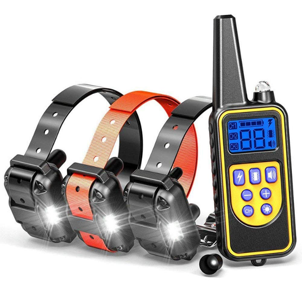 Remote Dog Training Collar, 800 Yards Rechargeable & Rainproof with Beep Vibration Collar for Training Your Dog