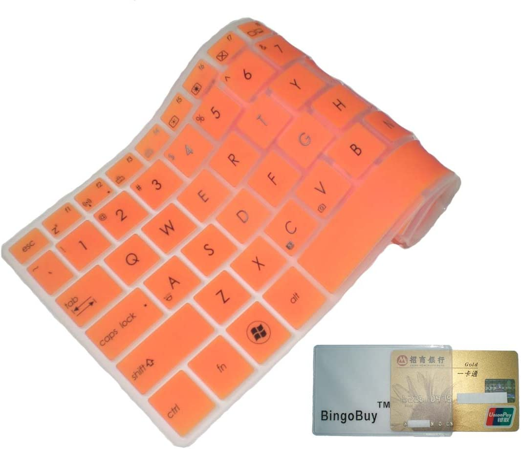 BingoBuy Semi-Orange Keyboard Protector Skin Cover for 15.6 Dell XPS 15-9530 XPS 15-8947sLV if your enter key looks like 7, our skin cant fit XPS15-4737sLV,Precision M3800