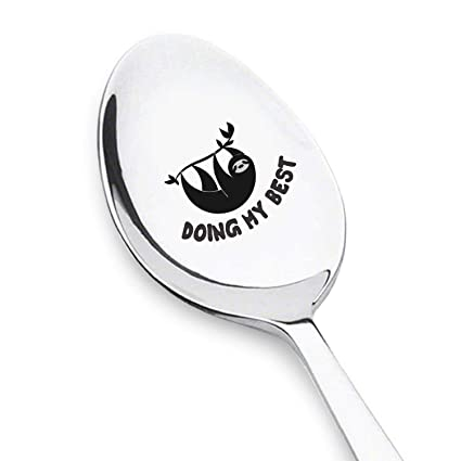 Doing My Best Sloth Spoon Funny Unique Gifts Birthday Gift Ideas For Men Or
